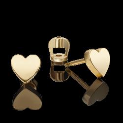 Золотые серьги-гвоздики без камней
