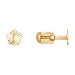 Серьги гвоздики «Цветы» из золота без камней SOKOLOV