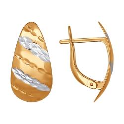 Серьги из золота без камней SOKOLOV