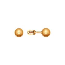 Золотые серьги пусеты без камней SOKOLOV