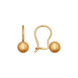 Золотые серьги без камней SOKOLOV