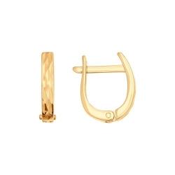 Серьги из золота с алмазной гранью Sokolov
