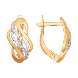Серьги с алмазными гранями без камней SOKOLOV