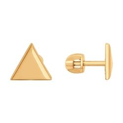 Золотые серьги-гвоздики Треугольник без камней SOKOLOV