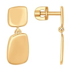 Золотые серьги с подвеской без камней SOKOLOV