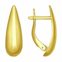 Серьги из желтого золота