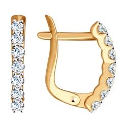 Золотые серьги (Фианит) SOKOLOV