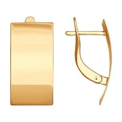 Детские золотые серьги без камней SOKOLOV