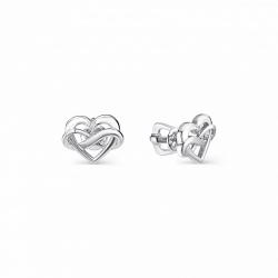 Серебряные серьги c бриллиантом