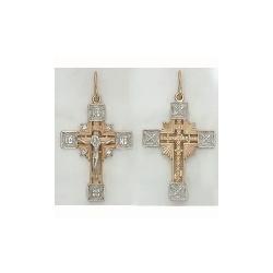 Золотой крестик с фианитами