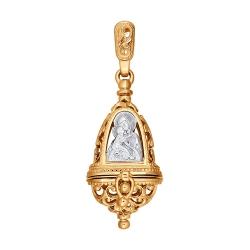 Подвеска колокольчик из золота без камней SOKOLOV