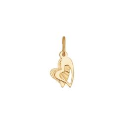 Золотая подвеска Два сердца без камней SOKOLOV