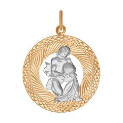 """Подвеска """"Водолей"""" из золота без камней SOKOLOV"""