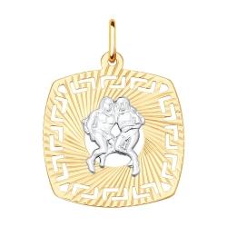 Подвеска «Близнецы» из золота без камней SOKOLOV