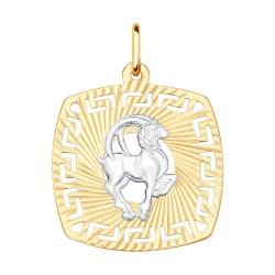 Подвеска «Козерог» из золота без камней SOKOLOV