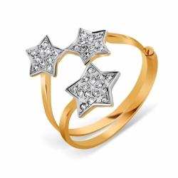 Золотое кольцо Звезды с фианитами