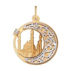 Мусульманская подвеска из золота c фианитами SOKOLOV