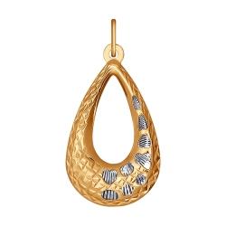 Золотая подвеска без камней SOKOLOV