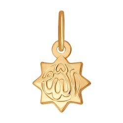 Золотая мусульманская подвеска без камней SOKOLOV