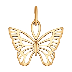 Подвеска Бабочка из золота без камней SOKOLOV