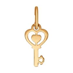 Подвеска в виде ключа из золота без камней SOKOLOV