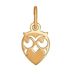 Подвеска из золота в виде совы без камней SOKOLOV