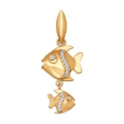 Подвеска знак зодиака из золота с фианитами SOKOLOV