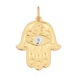 Золотая подвеска Рука Фатимы SOKOLOV