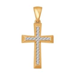 Золотой крестик с фианитами SOKOLOV