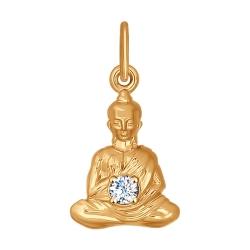 Золотая подвеска Медитация (Фианит) SOKOLOV