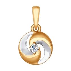 Золотая подвеска (Фианит) SOKOLOV