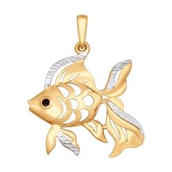Золотая подвеска Море (Фианит) SOKOLOV
