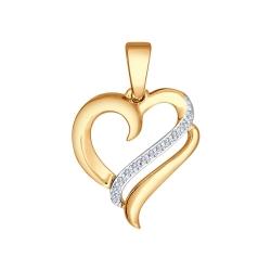Золотая подвеска Love (Фианит) SOKOLOV