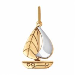 Подвеска из комбинированного золота