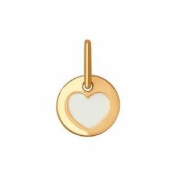 Подвеска из золота с эмалью