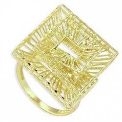 Кольцо Ажур из желтого золота
