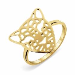 Кольцо Леопард из желтого золота