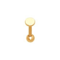 Золотой пирсинг в губу без камней SOKOLOV