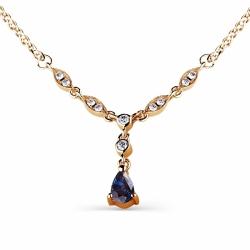 Золотое колье с сапфиром, бриллиантами