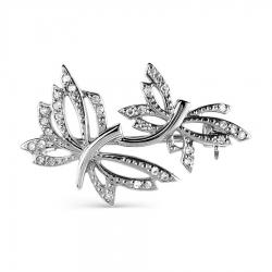 Брошь Бабочки из белого золота с бриллиантами