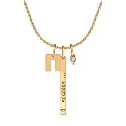 Колье с буквой из золота с фианитами SOKOLOV