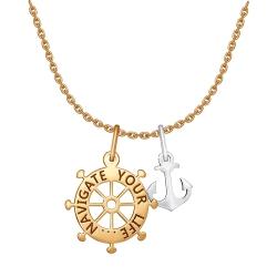 Колье Морское путешествие из комбинированного золота без камней SOKOLOV