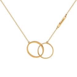Золотое колье Love без камней SOKOLOV