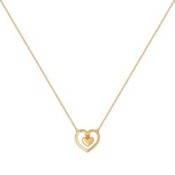 Золотое колье в виде сердечка без камней SOKOLOV