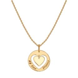 Золотое колье Сердце без камней SOKOLOV