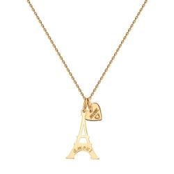Золотое колье Эйфелева башня без камней SOKOLOV