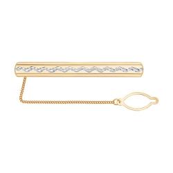 Золотой зажим для галстука без камней SOKOLOV