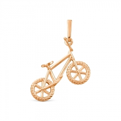 Золотая подвеска Велосипед