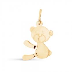Детская золотая подвеска Медвежонок