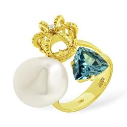 Эксклюзивное кольцо из жёлтого золота с короной